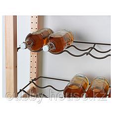 ИВАР Полка для бутылок, серый, 83x30 см, фото 3
