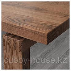 МОРБИЛОНГА / БЕРНГАРД Стол и 4 стула, коричневый, Мьюк темно-коричневый, 140x85 см, фото 3