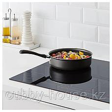 ХАВСКАРП Сотейник/сковорода, серый, 24 см, фото 3