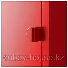 ЛИКСГУЛЬТ Шкаф, металлический, красный, 35x60 см, фото 2