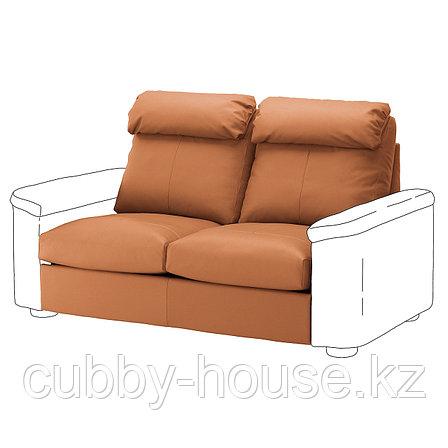 ЛИДГУЛЬТ Секция 2-местного дивана-кровати, Гранн/Бумстад золотисто-коричневый, фото 2