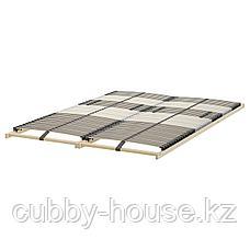 МАЛЬМ Высокий каркас кровати/4 ящика, черно-коричневый, Леирсунд, 160x200 см, фото 3