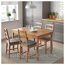 ЙОКМОКК Стол и 4 стула, морилка,антик, фото 2