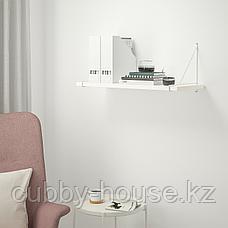 БЕРГСХУЛЬТ / ПЕРСГУЛЬТ Полка навесная, белый, хромированный, 80x30 см, фото 3