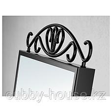 КАРМСУНД Зеркало настольное, черный, 27x43 см, фото 3