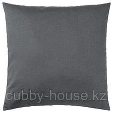 УРСКОГ Подушка, лев, серый, 50x50 см, фото 3
