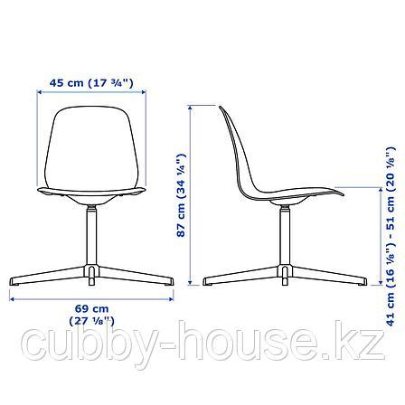 ЛЕЙФ-АРНЕ Рабочий стул, белый, Бальсбергет белый, фото 2
