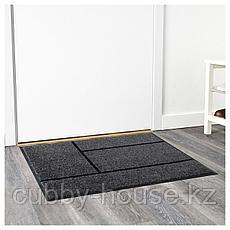 КЁГЕ Придверный коврик, серый, черный, 69x90 см, фото 3