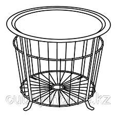 ГУАЛЁВ Столик с отделениями д/хранения, черный, 60 см, фото 3
