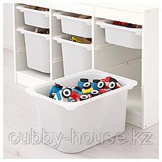 ТРУФАСТ Комбинация д/хранения+контейнеры, белый, белый, 99x44x56 см, фото 3