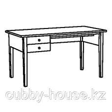 АРКЕЛЬСТОРП Письменный стол, черный, 140x70 см, фото 2