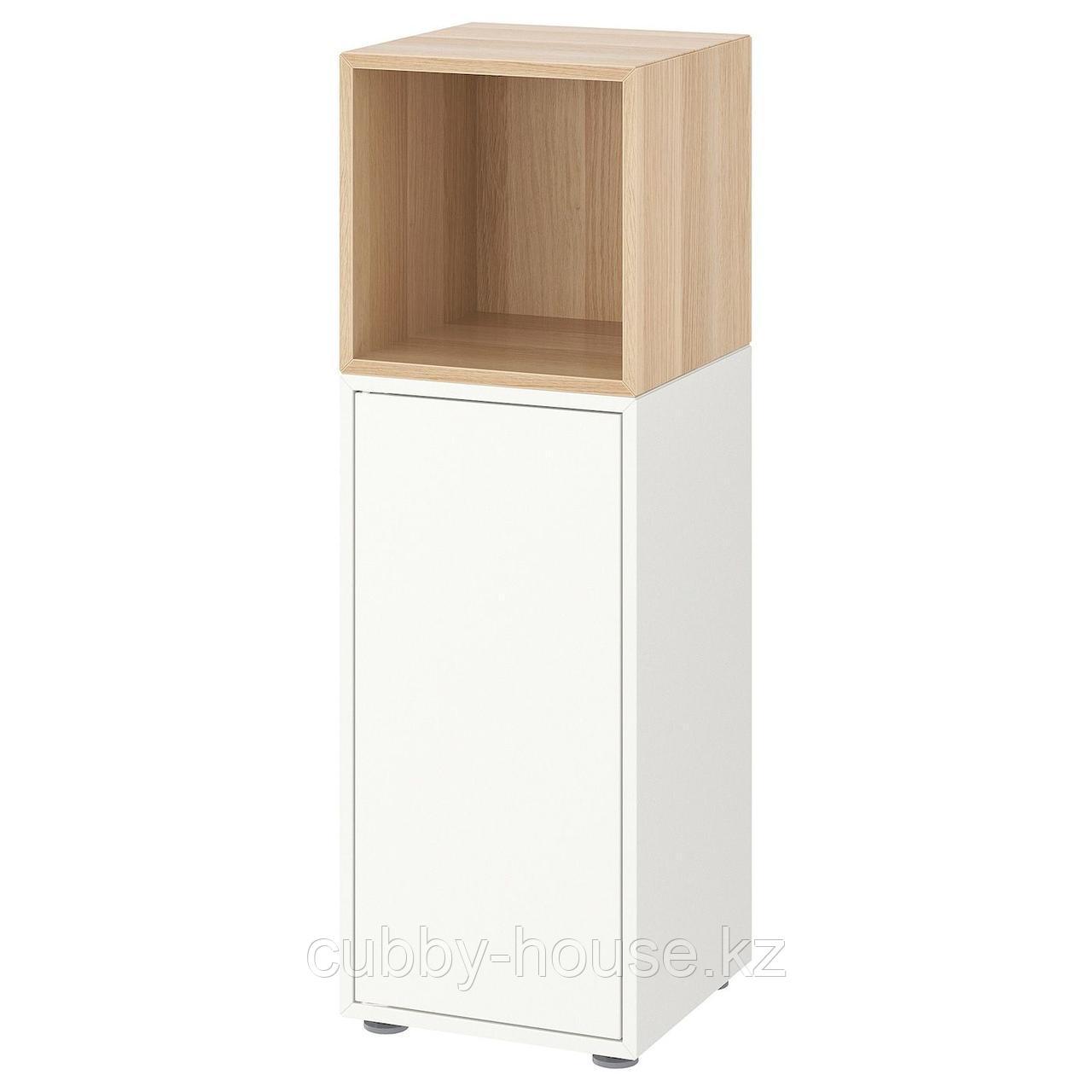 ЭКЕТ Комбинация шкафов с ножками, белый, 35x35x107 см
