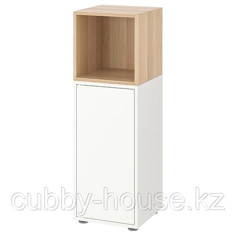 ЭКЕТ Комбинация шкафов с ножками, белый, 35x35x107 см, фото 2