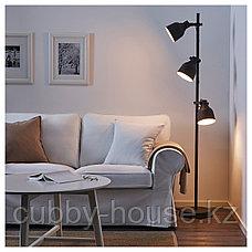 ХЕКТАР Светильник напольный с 3 лампами, темно-серый, фото 2