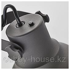 ХЕКТАР Светильник напольный с 3 лампами, темно-серый, фото 3
