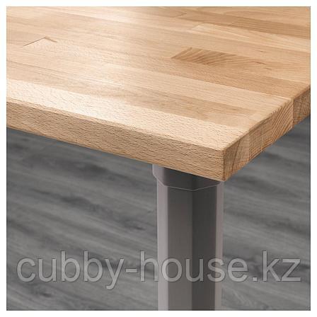 ГЕРТОН Стол, бук, серый, 155x75 см, фото 2