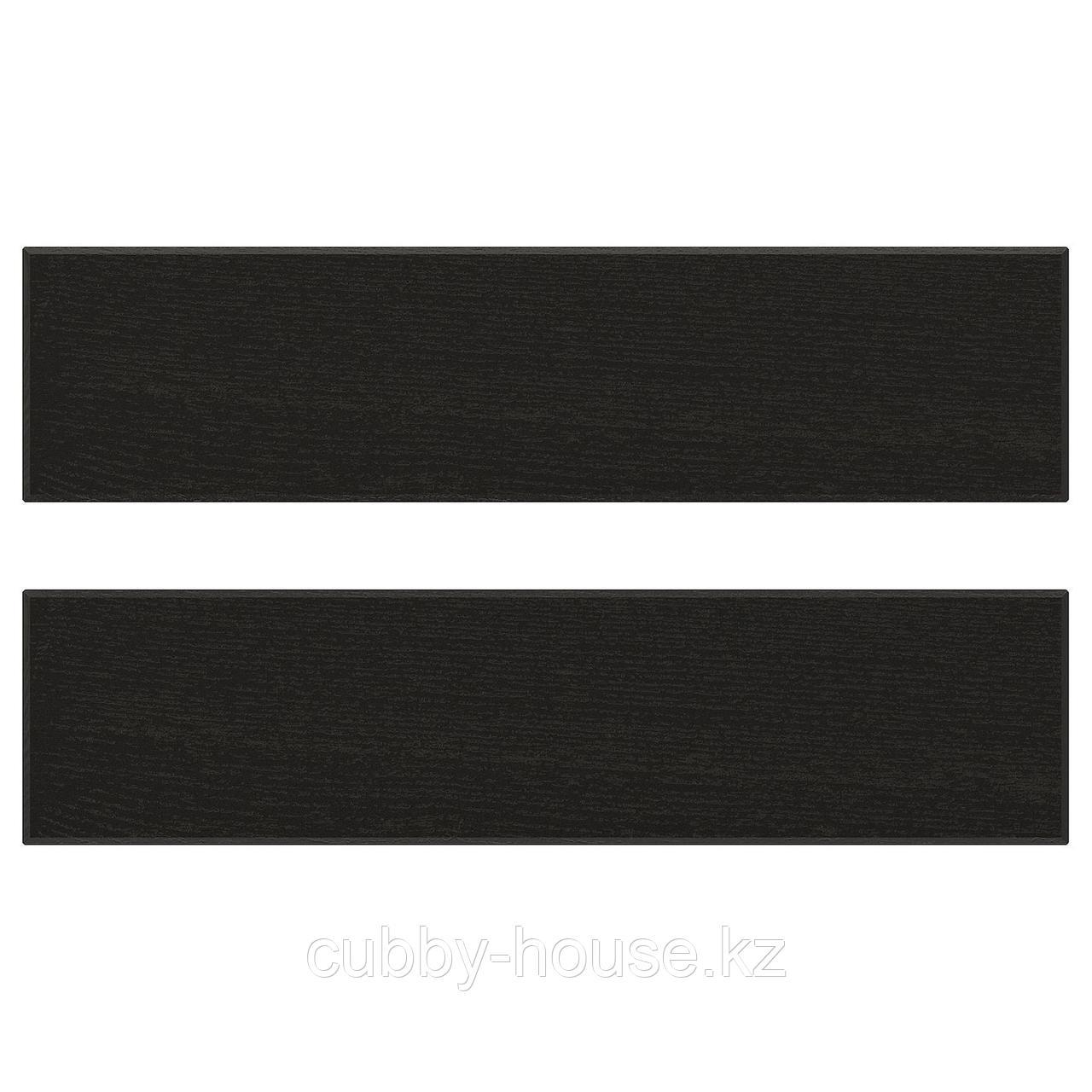 ЛЕРХЮТТАН Фронтальная панель ящика, черная морилка, 60x10 см