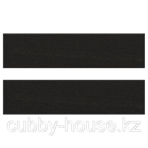 ЛЕРХЮТТАН Фронтальная панель ящика, черная морилка, 60x10 см, фото 2