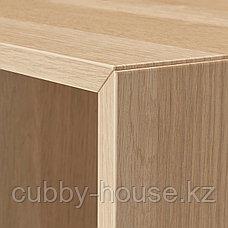 ЭКЕТ Комбинация настенных шкафов, белый, под беленый дуб, 175x25x70 см, фото 3