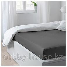 НАТТЭСМИН Простыня, темно-серый, 240x260 см, фото 3