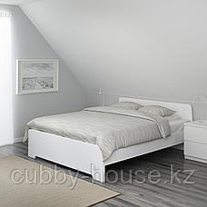АСКВОЛЬ Каркас кровати, белый, 160x200 см, фото 3