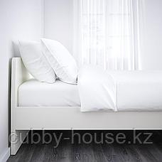 АСКВОЛЬ Каркас кровати, белый, 160x200 см, фото 2