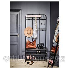 ПИННИГ Вешалка с секцией для обуви, черный, 193 см, фото 2