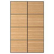 ФЬЕЛЬХАМАР Пара раздвижных дверей, темный бамбук, 200x236 см
