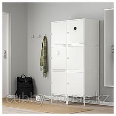 ХЭЛЛАН Комбинация для хранения с дверцами, белый, 90x47x167 см, фото 2