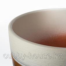 ЛАЙМПЕППАР Горшок цветочный, серый, золотой полоска, 15 см, фото 3