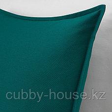 ГУРЛИ Чехол на подушку, золотисто-желтый, 50x50 см, фото 2