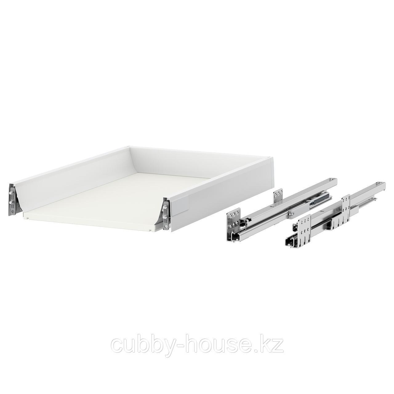 МАКСИМЕРА Ящик, низкий, белый, 40x37 см
