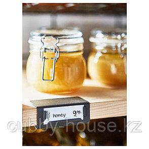 КОРКЕН Банка с крышкой, прозрачное стекло, 13 сл, фото 2