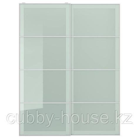 СЭККЕН Пара раздвижных дверей, матовое стекло, 150x236 см, фото 2