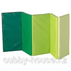 ПЛУФСИГ Складной гимнастический коврик, зеленый, 78x185 см, фото 3