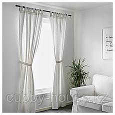 ЛЕНДА Гардины с прихватом, 1 пара, белый, 140x300 см, фото 2