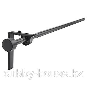РЭККА Гардинный карниз/комбинация, черный, 120-210 см, фото 2