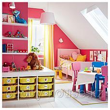 БУСУНГЕ Раздвижная кровать, светло-розовый, 80x200 см, фото 3