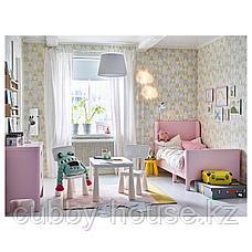 БУСУНГЕ Раздвижная кровать, светло-розовый, 80x200 см, фото 2