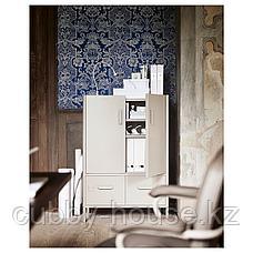 ИДОСЕН Шкаф с дверцами и ящиками, синий, 80x47x119 см, фото 3