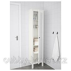 ХЕМНЭС Высокий шкаф с зеркальной дверцей, белый, 49x31x200 см, фото 3