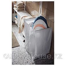 ТОРКИС Корзина для белья, белый/серый, 90 л, фото 3