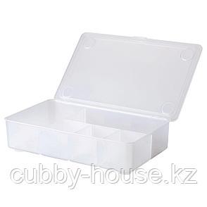 ГЛИС Контейнер с крышкой, прозрачный, 34x21 см, фото 2