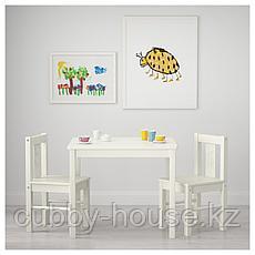 КРИТТЕР Стол детский, белый, 59x50 см, фото 2