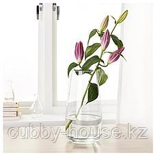 БЕРЭКНА Ваза, прозрачное стекло, 30 см, фото 2