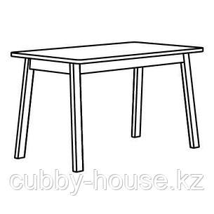 НОРРОКЕР Стол, береза, 125x74 см, фото 2
