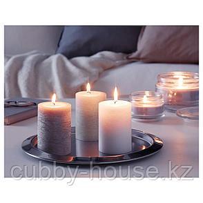 ЛУГГА Формовая свеча, ароматическая, Нежная ваниль, бежевый, 10 см, фото 2