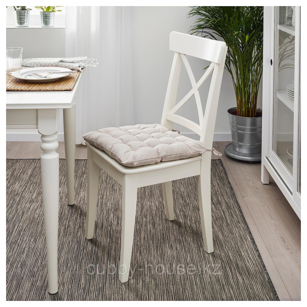 ВИППЭРТ Подушка на стул, бежевый, 38x38x6.5 см - фото 2