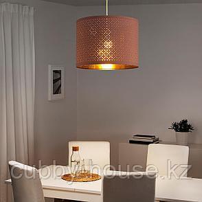 НИМО Абажур, розовый, желтая медь, 44 см, фото 2