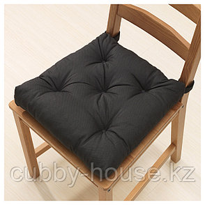МАЛИНДА Подушка на стул, черный, 40/35x38x7 см, фото 2